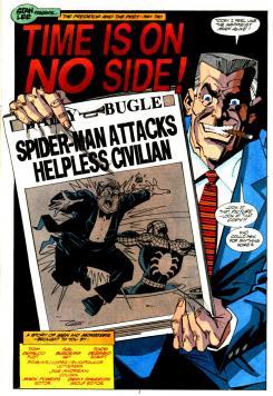 Imagen de J. Jonah Jameson en los cómics de Spider-Man, por Sal Buscema