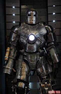 Image of the Mark I in the Hall of Armors of Iron Man 3