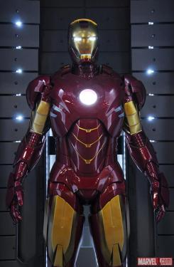Image of Mark IV in the Hall of Armors of Iron Man 3