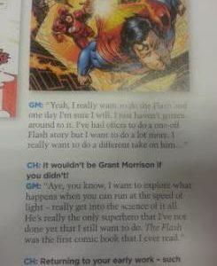 Imagen cabecera de entrada: [Cómics] Grant Morrison interesado en escribir a Flash, revela que ya ha recibido alguna oferta