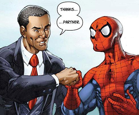 Imagen cabecera de entrada: Superhéroes y Ciencia: El factor Obama en Ciencia (28)