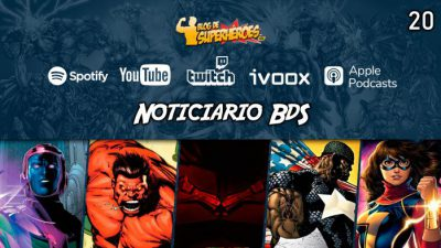 Imagen cabecera de entrada: [Podcast] Noticiario BdS – Programa 20: vistazo completo al Bat-Traje, Red Hulk rumoreado para She-Hulk, Ms. Marvel para 2021…