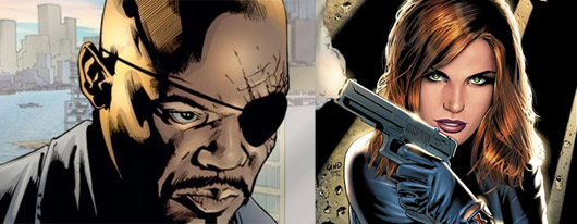 Nick Fury (ultimate) y Black Widow