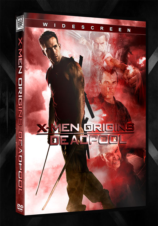 [Fan-art] Carátula del dvd de X-Men Origins: Deadpool