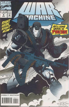 Portada de cómic War Machine
