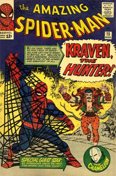 Spider-Man vs Kraven en The Amazing Spider-Man #15