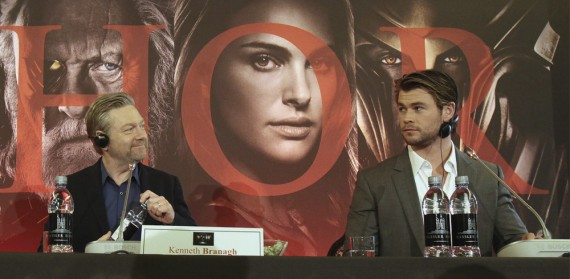 Visita de Chris Hemsworth y Kenneth Branagh a Roma