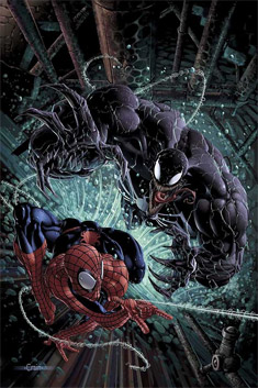 Captura de cómic, Spider-Man y Venom