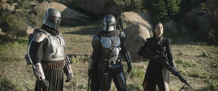 Image of Boba Fett, Fennec Shand and Mando in The Mandalorian 2x06: Chapter 14