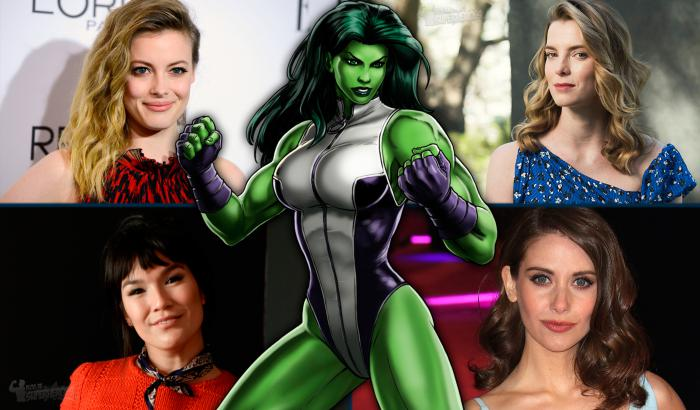 Las actrices Gillian Jacobs, Betty Gilpin, Zoë Chao y Alison Brie fueron candidatas para ser She-Hulk