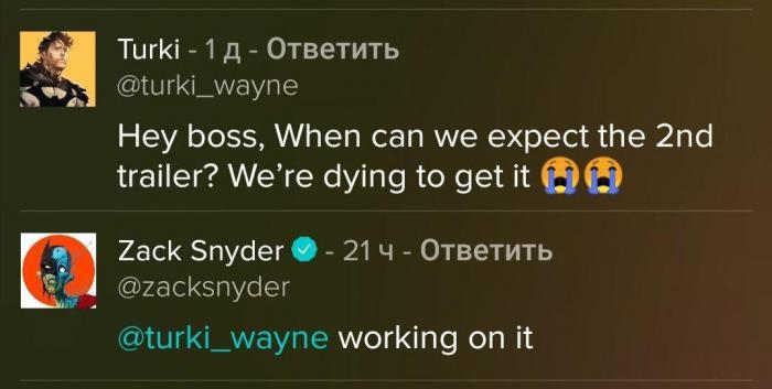 Zack Snyder confirma que está trabajando en el segundo trailer de Justice League de Zack Snyder