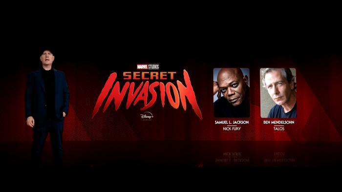 Kevin Feige y el reparto de la serie Secret Invasion