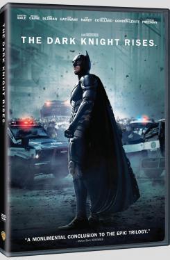 Carátula de la edición DVD para Estados Unidos de The Dark Knight Rises / El Caballero Oscuro: La Leyenda Renace (2012)
