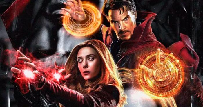 Montage of Doctor Strange and Scarlet Witch / Wanda in the multiverse