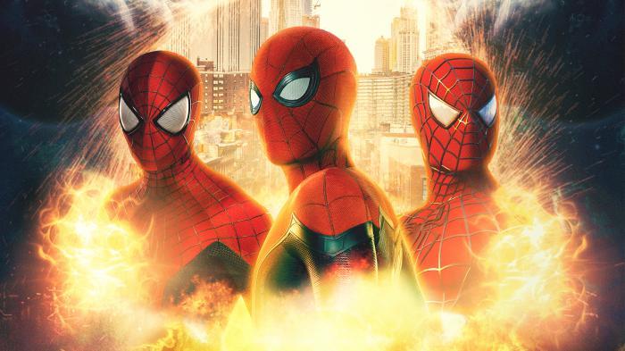 Montaje de los tres Spider-Man (Andrew Garfield, Sam Raimi y Tom Holland)