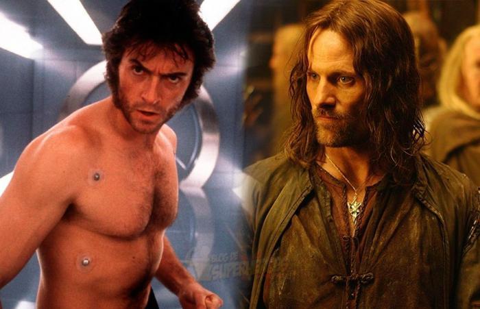 Montaje de Wolverine/Lobezno (Hugh Jackman) y Viggo Mortensen (Aragorn)