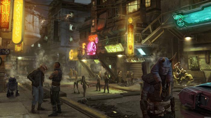 Arte conceptual del videojuego cancelado Star Wars 1313