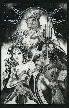 Portada alternativa de Justice League #59 por Jim Lee dedicada a Zack Snyders Justice League (2021)