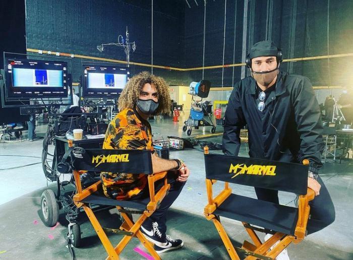 Imagen de Bilall Fallah y Adil El Arbi en el set de rodaje de Ms. Marvel