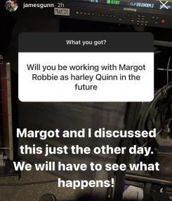 James Gunn dice haber hablar ocn Margot Robbie sobre el futuro de Harley Quinn