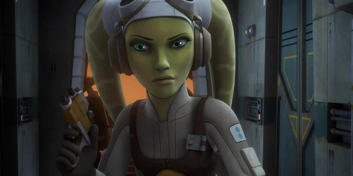 Imagen de Hera Syndulla en la serie animada Star Wars Rebels