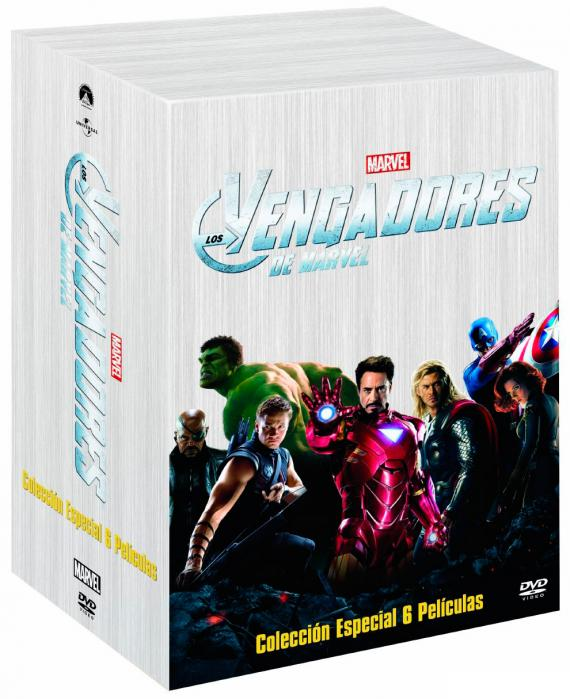 Imagen del pack DVD Marvel Cinematic Universe - Phase One: Avengers Assembled para España
