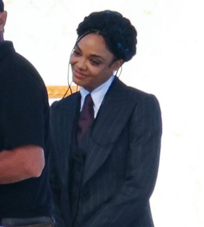 Imagen de Tessa Thompson en el set de Thor: Love and Thunder (2021)
