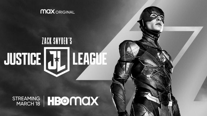 Banner de La liga de la Justicia de Zack Snyder (2021) centrado en Flash