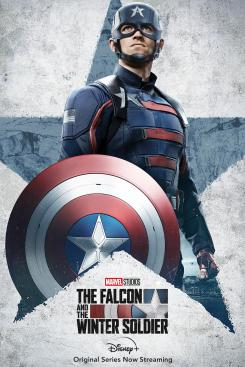 Póster promocional de John Walker en la serie The Falcon and Winter Soldier (2021)