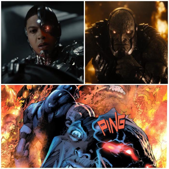 Vision de Cyborg- Zack Snyder Justice League- Easter Egg