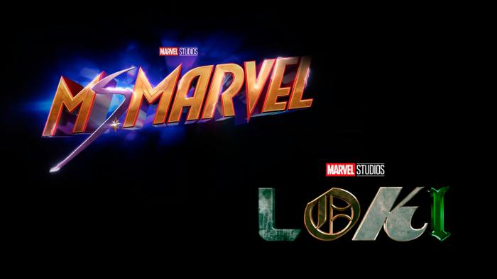 Montage of the logos of Ms. Marvel and Loki