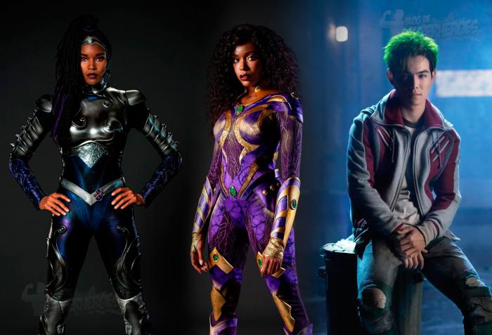 Montage of Starfire, Beast Boy and Blackfire in Titans