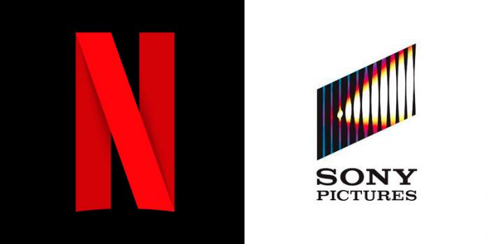 Assembling the Netflix and Sony Pictures logos
