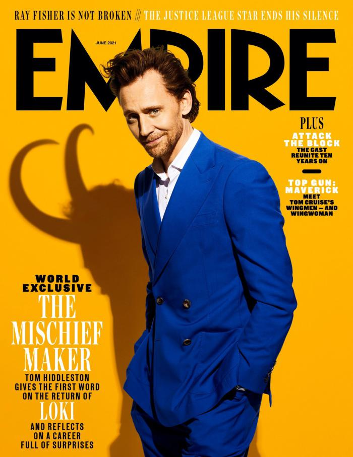 Tom Hiddleston en la portada de Empire para promocionar de Loki