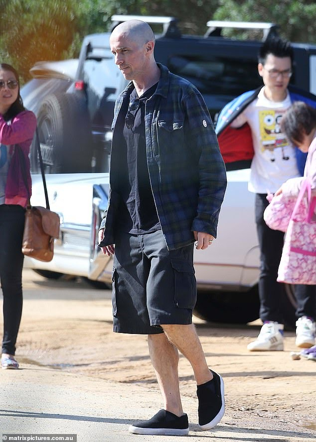Christian Bale on the streets of Sydney sporting a new look for Thor: Love and Thunder