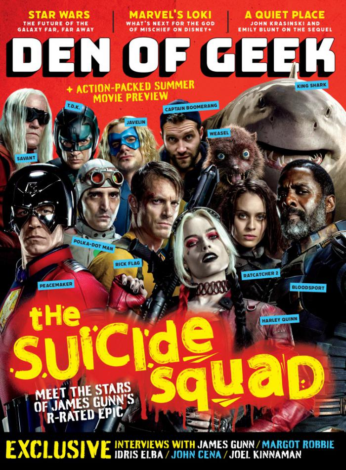 Portada de la revista Den of Geek centrada en The Suicide Squad (2021)