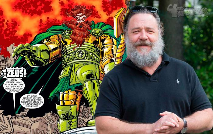 Russell Crowe confirma que interpreta a Zeus en Thor: Love and Thunder