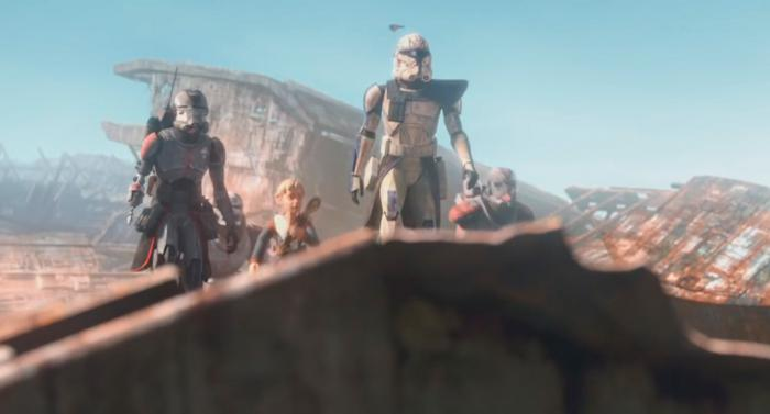 Captura del trailer de la serie animada Star Wars: The Bad Batch