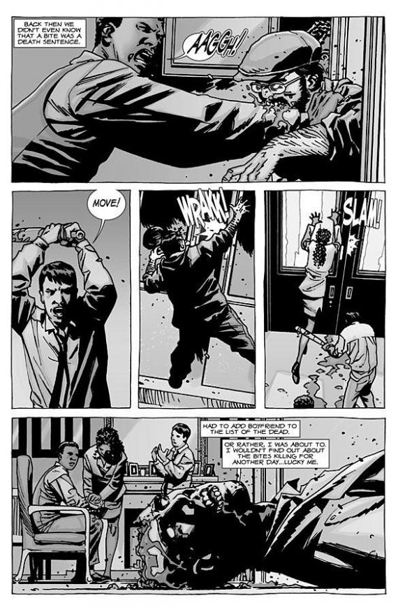 Interior del cómic The Walking Dead: Michonne Special #1 (octubre de 2012)