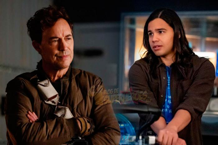 Image of Cisco Ramon and Harrison Wells in The Flash series