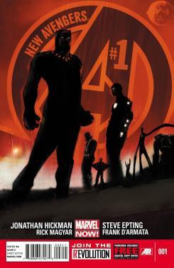Imagen portada del cómic New Avengers #1 de Steve Epting y el Jonathan Hickman