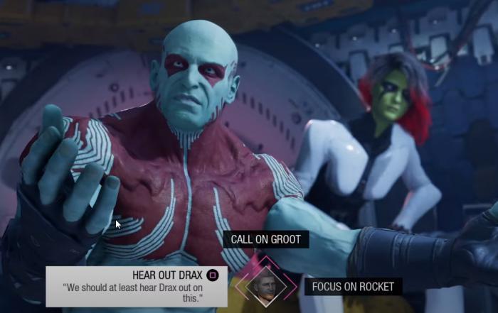 Captura del trailer presentación del vidoejuego Guardians of the Galaxy