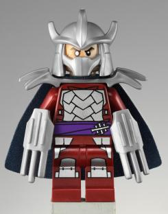 Figura de Shredder de la línea de LEGO sobre Teenage Mutant Ninja Turtles