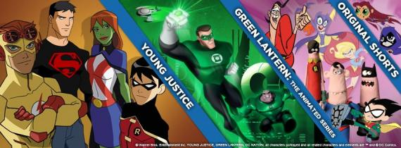 Imagen promocional del bloque DC Nation de la cadena Cartoon Network