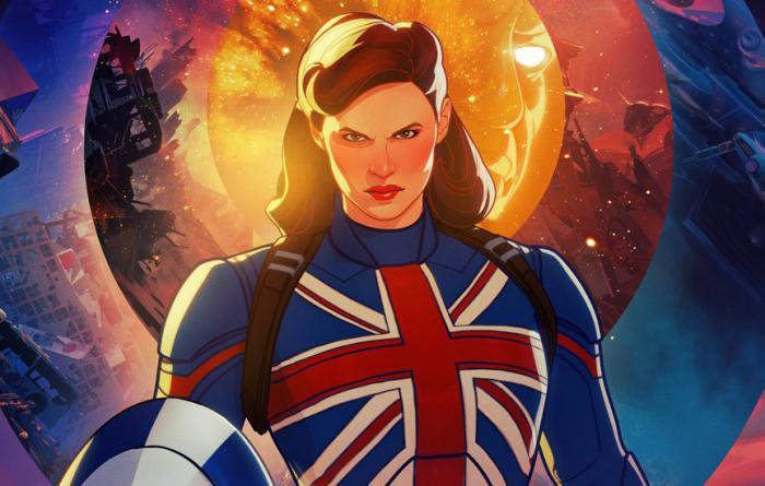 Recorte de póster de Peggy Carter (Captain Carter) en What If...? (2021)