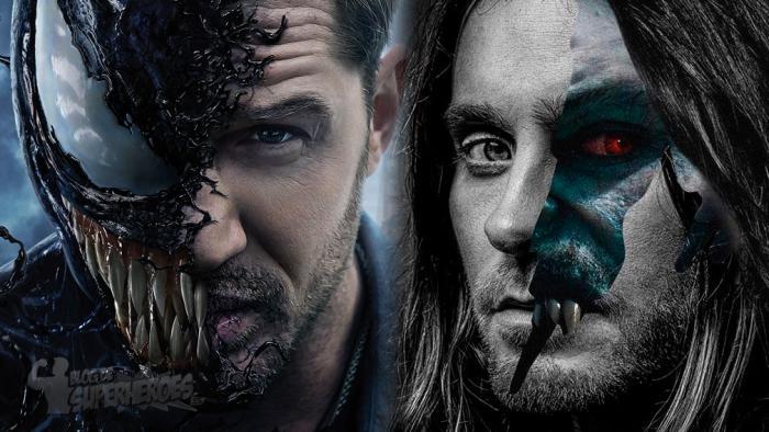 Montaje de Venom (Tom Hardy) y Morbius (Jared Leto)