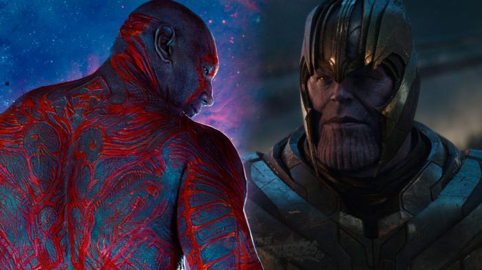 Montaje de Drax el Destructor y Thanos