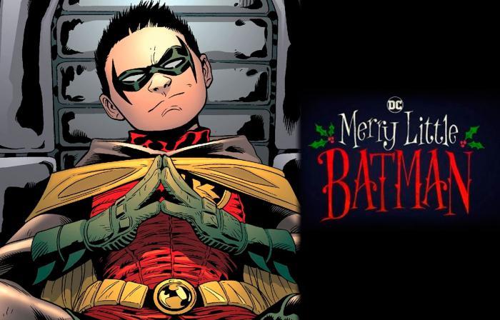 Montaje de Damian Wayne y Merry Little Batman