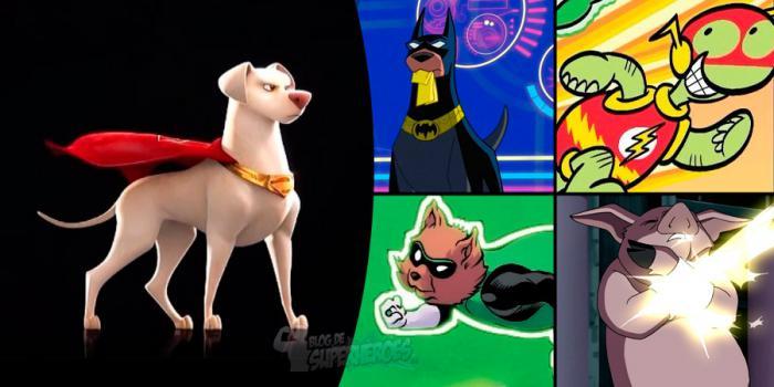 Montaje de las mascotas protagonistas de DC League Super-Pets