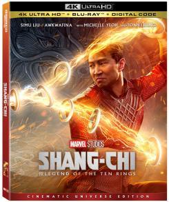 Portada de la versión 4k Blu-Ray de Shang-Chi y la Leyenda de los Diez Anillos